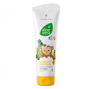 LR Aloe Vera Jungle Friends 3in1 Šampon, kondicionér & sprchový gel gel 250 ml