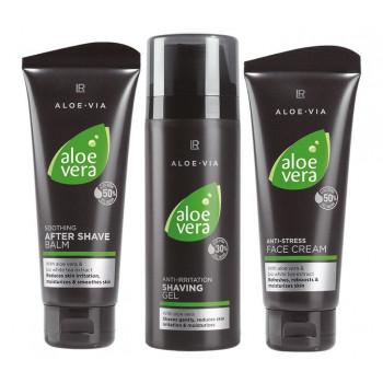LR Aloe Vera Ošetřující Série pro Muže II (s Gelem na Holení) 1 x 150 ml 2 x 100 ml
